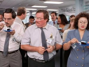 An employee work anniversary can be funny and more than a skit from Office Space