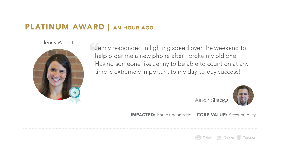 Platinum Recognition Award Homepage 2 -  - Teamphoria: Free Employee Review & Engagement Software