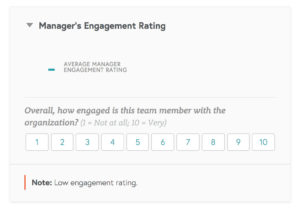 manager rating employee engagement 300x210 -  - Engagement Summary Helps Organizations Measure Employee Engagement