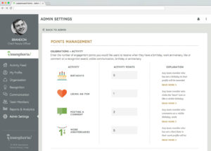 rewards points employee engagement new 300x214 -  - New From Teamphoria: Customizable Leaderboard Points
