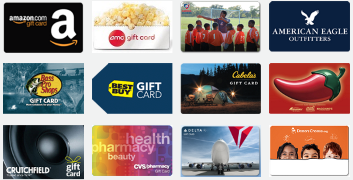 rewards cards -  - New From Teamphoria: Gift Card Rewards